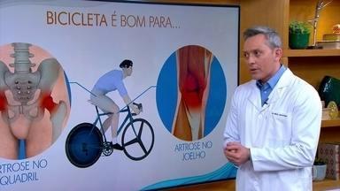 Andar de bicicleta traz benefícios para quem tem doenças reumáticas - O Bem Estar mostra o que o cérebro de uma pessoa que anda de bike tem de diferente de quem não anda. Os aprendizados de infância ficam guardados dentro dos neurônios e as conexões podem ser refeitas através de exercícios.