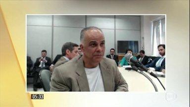 Juiz Sérgio Moro interroga Marcos Valério e ex-tesoureiro do PT - Depoimentos tiveram como tema o empréstimo fraudulento do Banco Schahin, que teria beneficiado o PT. Segundo Valério, dinheiro foi pedido porque cúpula estava sendo chantageada.