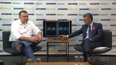 Candidatos a prefeito de Curitiba participam de um debate promovido pela Gazeta do Povo - Hoje foi a vez dos candidatos Ney Leprevost, do PSD e Tadeu Veneri do PT