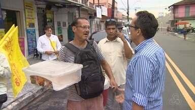 Candidato Marcos Queiroz faz caminhada na Zona Oeste de Manaus - Rede Amazônica acompanha, uma vez por semana, agenda de candidato à prefeitura com menos de 5% nas pesquisas de intenções de voto.