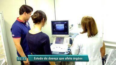 Pesquisa internacional é realizada na Universidade Federal do ES - Nesse fim de semana, eles realizaram exames em crianças pra pesquisar a síndrome de Sjogren.