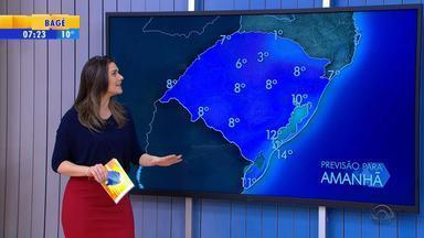 Tempo: terça-feira (20) deve começar fria, mas sol aparece no RS - Temperaturas vão aumentar no Norte do estado.