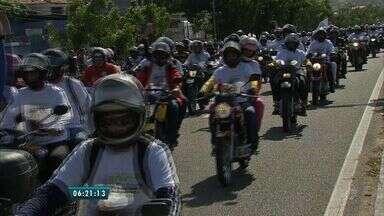 Motoromaria reúne milhares de motocilcistas para homenagem a São Francisco em Canindé - De acordo com a organização do evento, 60 mil pessoas participaram da iniciativa.