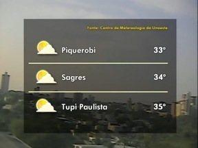 Tempo deve seguir aberto no Oeste Paulista - Veja as previsões para algumas cidades.
