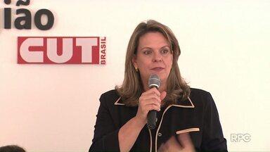 Sandra Graça participou de reunião e entrevista nesta terça-feira - A candidata participa de um debate na noite desta segunda-feira.