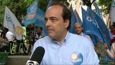 Carlos Osorio fez campanha em Copacabana - Carlos Osorio fez campanha em Copacabana.