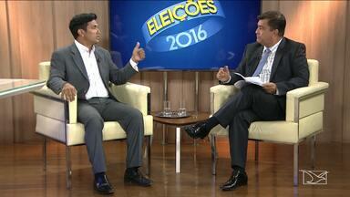 Candidato a prefeito Wellington do Curso é entrevistado na TV Mirante - Candidato a prefeito Wellington do Curso é entrevistado na TV Mirante