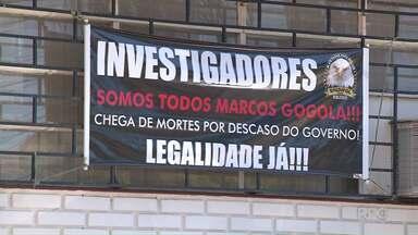 Greve de policiais civis afeta atendimento nas delegacias de Londrina - Apenas serviços emergenciais estão sendo realizados.