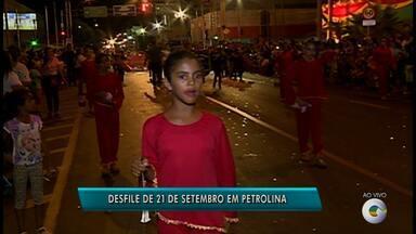 Desfile marca comemoração dos 121 anos de Petrolina - A cidade está completando 121 anos de emancipação política