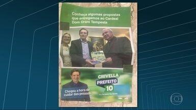 Igreja não autorizou uso da imagem de Dom Orani em campanha - Foto foi tirada em agosto. Cardeal já se encontrou com nove candidatos a prefeitura
