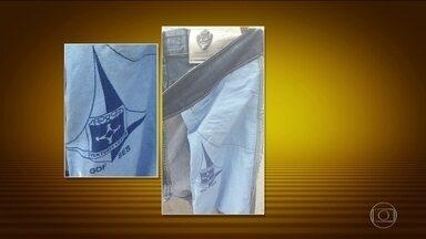 Roupa de hospital no DF vira forro de calças e cirurgias são canceladas - Cirurgias estão sendo canceladas há três meses porque os lençóis sumiram das lavanderias dos hospitais. A marca da Secretaria de Saúde apareceram como forro de calças jeans vendidas nas feiras de Brasília.