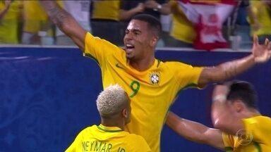 Seleção brasileira vence mais uma vez com o técnico Tite - Esta foi a terceira vitória do técnico Tite com a seleção.