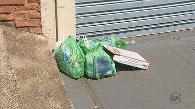 Funcionários de empresa de coleta de lixo realizam paralisação em São Carlos, SP - Os funcionários de uma outra empresa, responsável por serviços de limpeza, também estão parados por falta de pagamento.