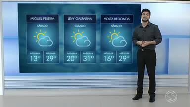 Confira a previsão do tempo para este sábado - Fique por dentro de como ficam as temperaturas em cidades do Sul do Rio de Janeiro.