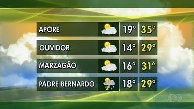 Saiba qual a previsão do tempo para esta semana em Goiás - Produtores de soja aguardam primeiras chuvas para começar plantio dos grãos.