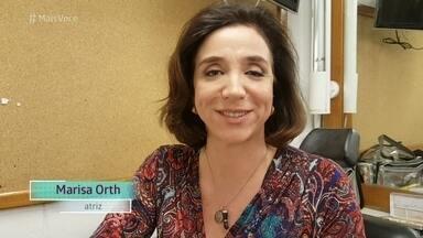 Marisa Orth manda mensagem para Sabrina Petraglia e Marcos Pitombo - Atriz é só elogios para o casal da novela 'Haja Coração'