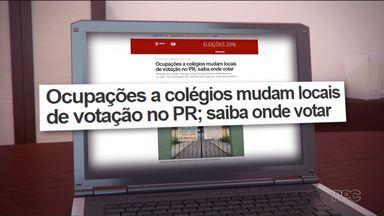 Mais de duzentos locais de votação foram alterados por causa das ocupações nas escolas - Cerca de 700 mil eleitores de Curitiba, Maringá e Ponta Grossa vão ter que votar em outro lugar.