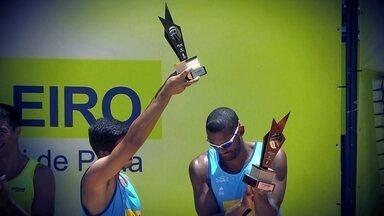 Dupla de Brasília brilha no Open de vôlei de praia da cidade - Averaldo e Léo Vieira derrotaram os campeões olímpicos Alison e Bruno Schimidt.