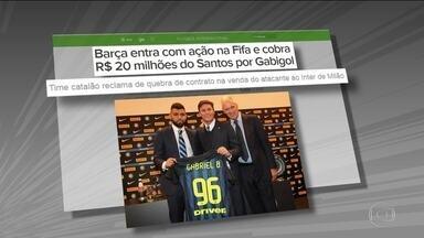 Barcelona entra com ação na Fifa para cobrar R$20 milhões do Santos por venda de Gabigol - Barcelona entra com ação na Fifa para cobrar R$20 milhões do Santos por venda de Gabigol