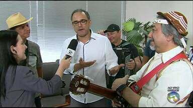 Show 'Baião de Nós Três' é realizado neste sábado (22) em Caruaru - Apresentação conta com Petrúcio Amorim, Valdir Santos e Santanna.