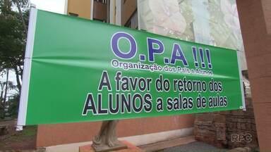 Juiz nega pedido de reintegração de posse de escolas estaduais de Apucarana - Neste sábado estudantes e pais de alunos protestaram contra a ocupação dos colégios da cidade.