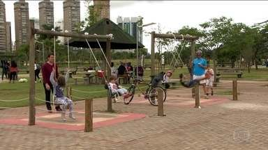 Governo de São Paulo quer ajuda das empresas a investir nos parques - Quadras esportivas, pistas de corrida e até bebedouros vão poder ser patrocinados. O governo quer que empresas privadas assumam parte da manutenção em troca da divulgação das marcas e prestação de serviços.