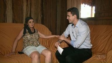 Pacientes com câncer escrevem cartinhas para equipe da RPC - A dona Rosa tem 43 e descobriu o câncer de mama há 3 meses.