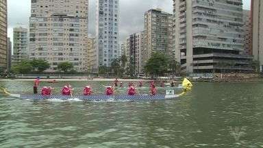 Festival Kaora de Dragon Boat acontece em São Vicente - Evento aconteceu na Praia dos Milionários.