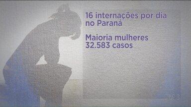 No Paraná, 16 pessoas são internadas por dia com doenças relacionadas ao humor - A pesquisa foi feita pelo Ministério da Saúde, que fez o levantamento com base nos atendimentos do SUS.