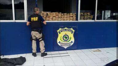 Polícia apreendeu 200 kg de maconha na BR-277 - Motorista levava a droga no bagageiro. Ele foi parado pela PRF em Irati.