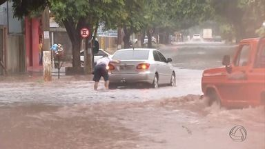 Chuva causa transtornos em alguns municípios de MS - Em Dourados choveu no início e fim do dia. Em Campo Grande, a chuva durou cerca de 30 minutos e derrubou árvores, provocou acidentes.