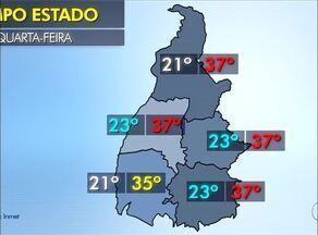Veja a previsão do tempo para o Tocantins nesta quarta-feira (2) - Veja a previsão do tempo para o Tocantins nesta quarta-feira (2)
