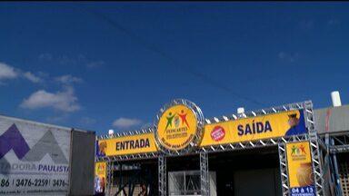 Estandes da Feincartes já estão sendo montados - A feira começa nesta sexta-feira em Petrolina.
