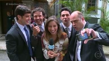 Vídeo Show mostra os bastidores do casamento de Beto e Tancinha em 'Haja Coração' - Elenco aproveita para se divertir entre as gravações