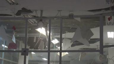 Assaltantes explodem caixas de agência bancária em Boa Esperança (MG) - Assaltantes explodem caixas de agência bancária em Boa Esperança (MG)
