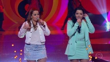 Maiara e Maraisa cantam 'Dez por Cento' - Dupla anima o auditório do 'Esquenta'