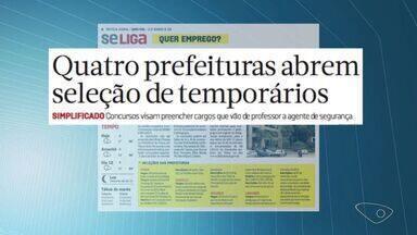 Veja oportunidades de emprego no jornal Notícia Agora - Prefeituras de Viana, Castelo, Aracruz e Linhares abriram concurso público.