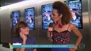 Alinne Prado acompanha lançamento do filme 'Atrás da Sombra' - O longa teve participação de Domingos Montagner