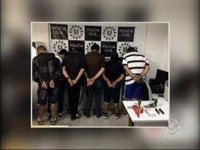 Polícia Civil prende sete integrantes de quadrilha que assaltava ônibus - Quadrilha atacava veículos nas rodovias federais