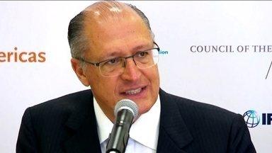 Alckmin apresenta em Nova York o programa de concessões para rodovias do estado - Pela primeira vez o governo do estado apresentou um edital em inglês para atrair investidores internacionais.