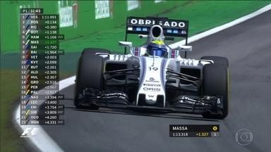 Lewis Hamiton faz melhor tempo no treino livre do GP do Brasil em Interlagos - GP do Brasil começa as 13h, no domingo.