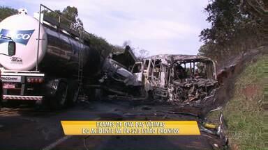 Exames de DNA das vítimas do acidente na PR-323 estão prontos - Laudo também aponta as causas do acidente