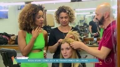 Alinne Prado acompanhou transformação de personagem de Nathália Dill, em Rock Story - Na novela, Julia se transforma em Lorena