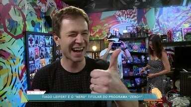 Tiago Leifert mostra bastidores do programa Zero 1 - O apresentador confessa que ama jogar videogame