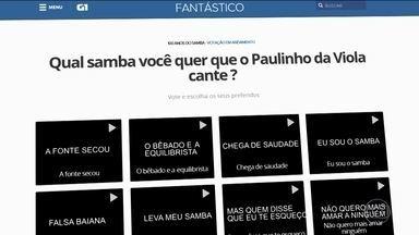 Samba completa cem anos no dia 27 de novembro - O Fantástico convidou Paulinho da Viola para uma homenagem.