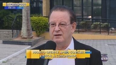 Projeto oferece apoio contábil e fiscal à comunidade em Florianópolis - Projeto oferece apoio contábil e fiscal à comunidade em Florianópolis