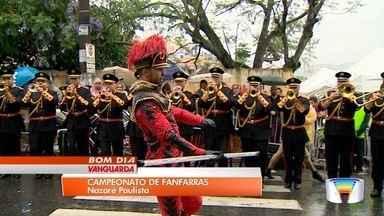 Nazaré Paulista recebe final do torneio estadual de fanfarras - Cidade foi tomada pela música no domingo