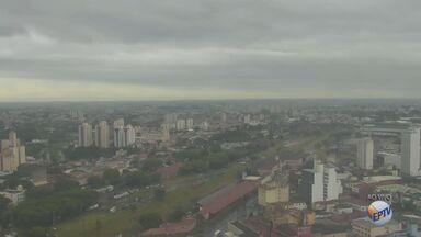Previsão é de chuva para os próximos dias na região de Campinas - Em Serra Negra, a máxima para a segunda-feira (14) será de 23°C. Já em Socorro, a terça-feira (15) terá máxima de 23°C e mínima de 16°C.