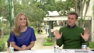 Angélica e Luciano Huck apresentam o 'Vídeo Show' nesta quarta - Casal elogia o estúdio de vidro e Angélica diz que estava com saudades do programa