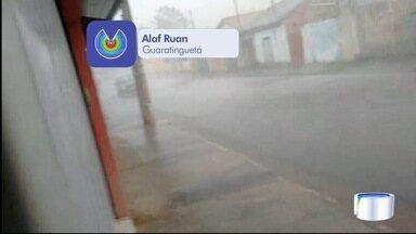 Chuva assusta moradores da região de Guaratinguetá - Veja fotos enviadas pelo aplicativo Vanguarda Repórter.